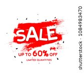 sale up to 60  limited... | Shutterstock .eps vector #1084983470
