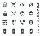 smartphone unlock technology...   Shutterstock .eps vector #1084985249