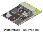 isometric low poly waste... | Shutterstock .eps vector #1084986188