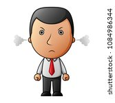 angry businessman and a steam... | Shutterstock .eps vector #1084986344