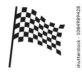 checkered racing flag icon.... | Shutterstock .eps vector #1084989428
