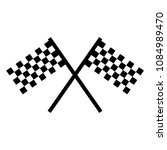 checkered racing flag icon.... | Shutterstock .eps vector #1084989470