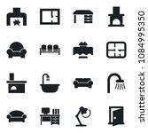 set of vector isolated black... | Shutterstock .eps vector #1084995350