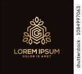 luxury letter g logo template... | Shutterstock .eps vector #1084997063