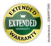 green extended warranty badge...   Shutterstock .eps vector #1084997390