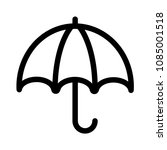 umbrella icon vector | Shutterstock .eps vector #1085001518