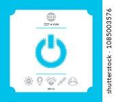 power button   halftone logo. | Shutterstock .eps vector #1085003576