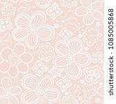 vector floral seamless pattern. ... | Shutterstock .eps vector #1085005868