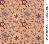 vector floral seamless pattern. ... | Shutterstock .eps vector #1085005874