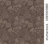 floral seamless texture with a... | Shutterstock .eps vector #1085005880