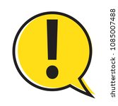 danger warning attention sign... | Shutterstock .eps vector #1085007488