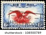 usa   circa 1938  a stamp... | Shutterstock . vector #108500789
