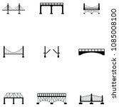 bridge icon set | Shutterstock .eps vector #1085008100