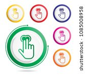 hand gesture icon two fingers... | Shutterstock .eps vector #1085008958