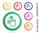 hand gesture icon two fingers... | Shutterstock .eps vector #1085008970
