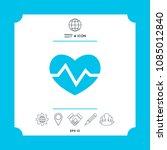 heart medical icon   Shutterstock .eps vector #1085012840