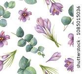 watercolor seamless pattern...   Shutterstock . vector #1085015036