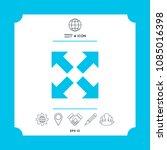 extend  resize icon. cross...   Shutterstock .eps vector #1085016398