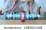 smart speaker concept. ai...   Shutterstock . vector #1085021348
