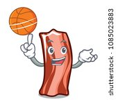 with basketball ribs character... | Shutterstock .eps vector #1085023883