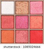 background of makeup eyeshadows ... | Shutterstock . vector #1085024666