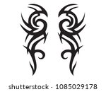 graphic black tribal tattoo | Shutterstock .eps vector #1085029178