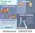 fitness and health flat... | Shutterstock .eps vector #1085037539