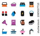 solid vector icon set   scraper ... | Shutterstock .eps vector #1085037710