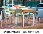 modern restaurant terrace in... | Shutterstock . vector #1085044226