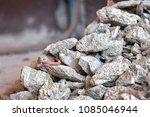 pile of rocks  debris and... | Shutterstock . vector #1085046944