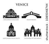 set of italy symbols  landmarks ... | Shutterstock .eps vector #1085048744