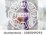 business gender equality work... | Shutterstock . vector #1085049293