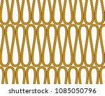 natural brown twine rope in... | Shutterstock .eps vector #1085050796