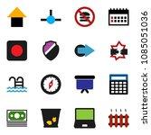 solid vector icon set   trash...