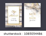 luxury wedding invitation cards ... | Shutterstock .eps vector #1085054486