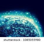 earth from space. best internet ... | Shutterstock . vector #1085055980