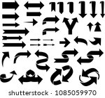 set of black arrows isolated on ... | Shutterstock .eps vector #1085059970