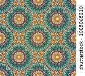 seamless pattern mandala... | Shutterstock .eps vector #1085065310