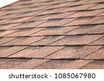 close up of new roof with... | Shutterstock . vector #1085067980