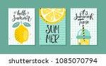 vector set of bright summer...   Shutterstock .eps vector #1085070794