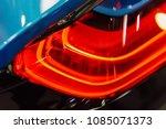 back lights of luxurious sports ... | Shutterstock . vector #1085071373