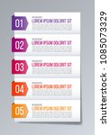 infographic banner template.... | Shutterstock .eps vector #1085073329