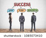 rear view of diverse business...   Shutterstock . vector #1085073410