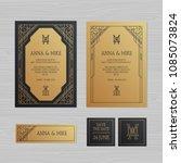 luxury wedding invitation or... | Shutterstock .eps vector #1085073824