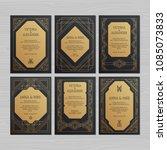 luxury wedding invitation or... | Shutterstock .eps vector #1085073833