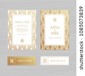 luxury wedding invitation or... | Shutterstock .eps vector #1085073839