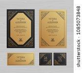 luxury wedding invitation or... | Shutterstock .eps vector #1085073848