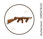line art automatic gun icon in... | Shutterstock .eps vector #1085078210