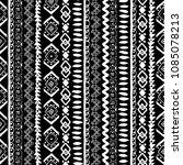 ethnic boho seamless pattern.... | Shutterstock .eps vector #1085078213
