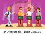 clever young people playing... | Shutterstock .eps vector #1085080118